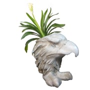 HomeStyles Muggly American Eagle Mascot Animal Statue Planter; Antique White