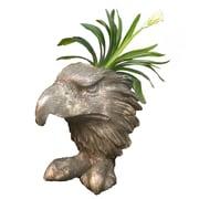 HomeStyles Muggly American Eagle Mascot Animal Statue Planter; Gray Stone