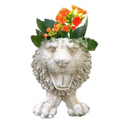 HomeStyles Muggly Tiger Mascot Animal Statue Planter; Antique White