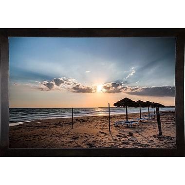 Highland Dunes 'Waiting Summer' Photographic Print; Cafe Espresso Wood Framed Paper