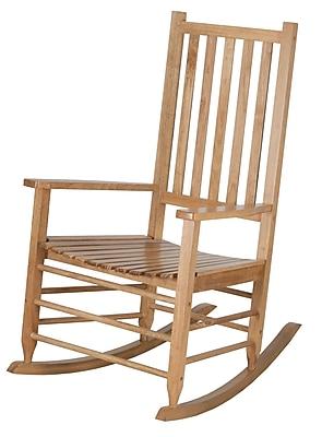 Highland Dunes Shantaya Middle Sized Adult Rocking Chair; Maple