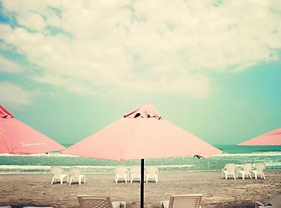 Highland Dunes 'Retro Pastel Beach' Photographic Print