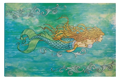 Highland Dunes 'I Sea Life Siren of the Sea Mermaid' Graphic Art on Wrapped Canvas