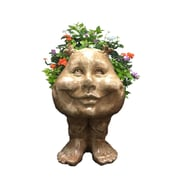 HomeStyles Muggly The Face Sister Suzy Q Statue Planter; Stone Wash
