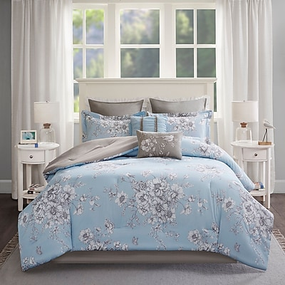 Ophelia & Co. Cindina Printed 8 Piece Comforter Set; California King