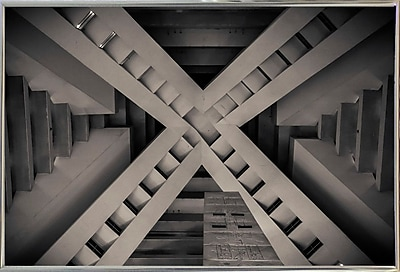 Orren Ellis 'Inside the Pyramid' Photographic Print; Silver Metal Framed Paper