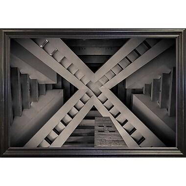 Orren Ellis 'Inside the Pyramid' Photographic Print; Black Wood Grande Framed Paper