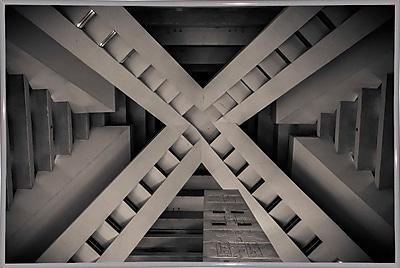 Orren Ellis 'Inside the Pyramid' Photographic Print; White Metal Framed Paper