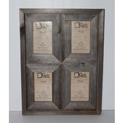 Loon Peak Ashbaugh Rustic Reclaimed Barn Wood Collage Picture Frame; 6'' H x 4'' W x 2'' D