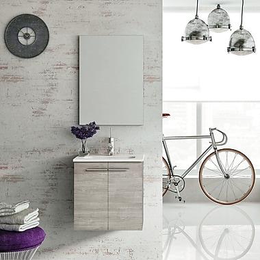 WS Bath Collections Start 20'' Single Bathroom Vanity Set w/ Mirror; Sandy Grey