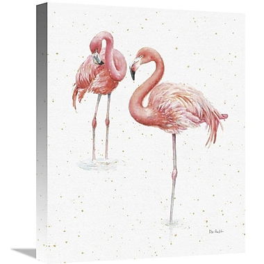 East Urban Home 'Gracefully Pink X' Print on Canvas; 28'' H x 22'' W