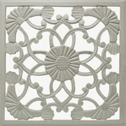 Fleur De Lis Living Medallion Wood Wall D cor; Distressed Gray