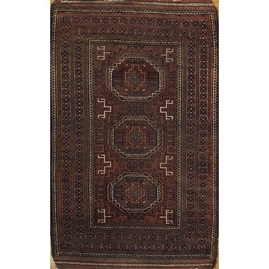 Pasargad NY Balouch Hand Knotted Wool Rust Area Rug