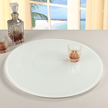 Orren Ellis Knepp Rotating Tray Lazy Susan; White
