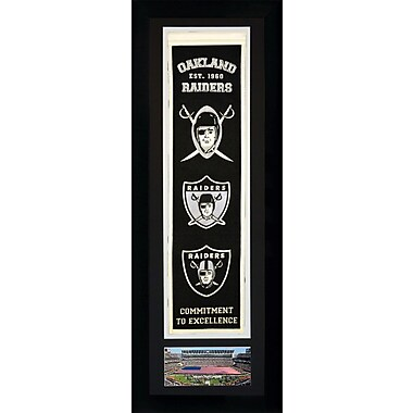 Red Barrel Studio 'NFL' Framed Graphic Art; Oakland Raiders