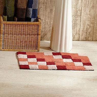 Red Barrel Studio Cabarita Tiles Bath Rug (Set of 2); Burgundy
