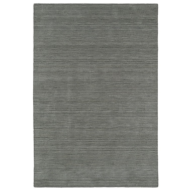Red Barrel Studio McCabe Hand-Loomed Silver Area Rug; 8' x 11'