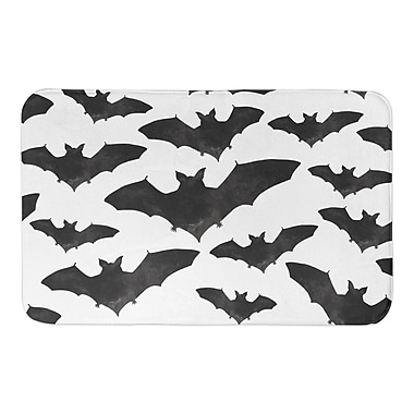 The Holiday Aisle Bat Pattern Bath Rug