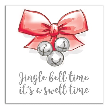 The Holiday Aisle 'Jingle Bell Time' Textual Art on Canvas