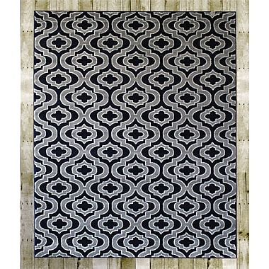 Charlton Home Courtdale Navy Blue/Gray Area Rug; 7'4'' x 10'6''