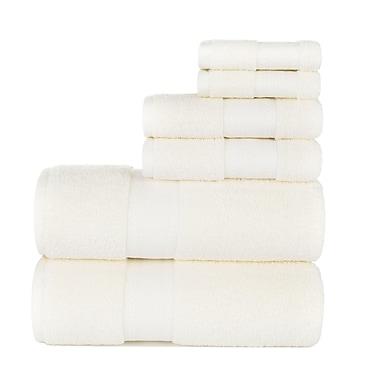 Darby Home Co Graco 6 Piece Cotton Towel Set; Ivory
