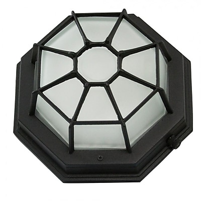 Breakwater Bay Wolfe 1-Light Outdoor Bulkhead Light; Black