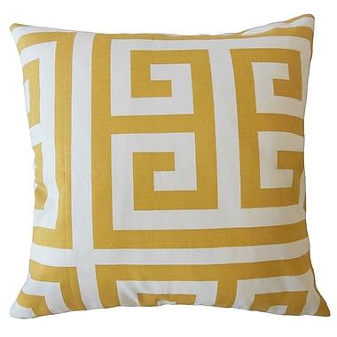 Bloomsbury Market Unionville Geometric Down Filled 100pct Cotton Throw Pillow; 24'' x 24''