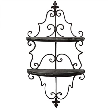 Darby Home Co Chesney Metal and Wooden Wall Shelf
