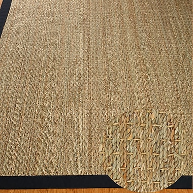 Highland Dunes Alland Black Area Rug; 5' x 8'