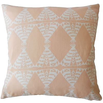 Bloomsbury Market Vail Graphic Down Filled 100pct Cotton Lumbar Pillow; Sundown