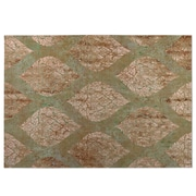 Bungalow Rose Elna Brown/Green Indoor/Outdoor Doormat; 4' x 5'
