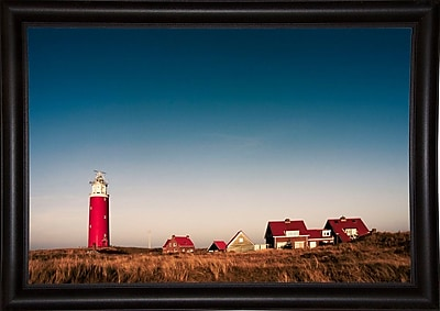 Breakwater Bay 'Texel Lighthouse' Photographic Print; Bistro Expresso Framed Paper