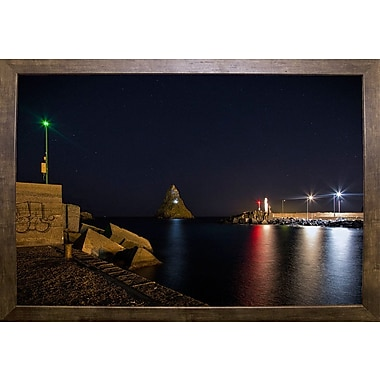 Ebern Designs 'Cyclops Bay' Photographic Print; Cafe Mocha Framed Paper