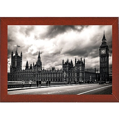 Ebern Designs '29 Aprile' Photographic Print; Red Mahogany Wood Medium Framed Paper