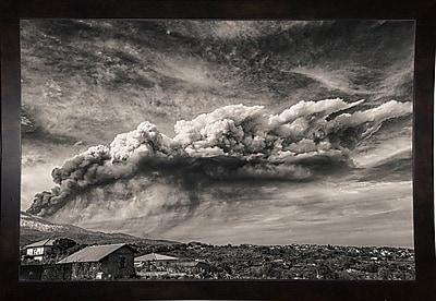 Ebern Designs '38' Photographic Print; Black Wood Medium Framed Paper