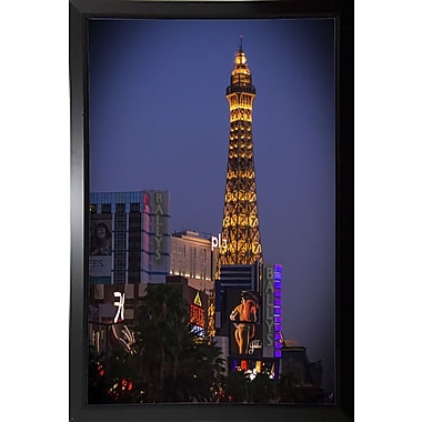 Ebern Designs 'Sin City' Photographic Print; Black Plastic Framed Paper