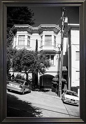 Ebern Designs 'Slope' Photographic Print; Black Wood Grande Framed Paper