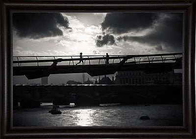 Ebern Designs 'Be Running Up That Building' Photographic Print; Bistro Expresso Framed Paper