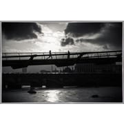 Ebern Designs 'Be Running Up That Building' Photographic Print; White Metal Framed Paper