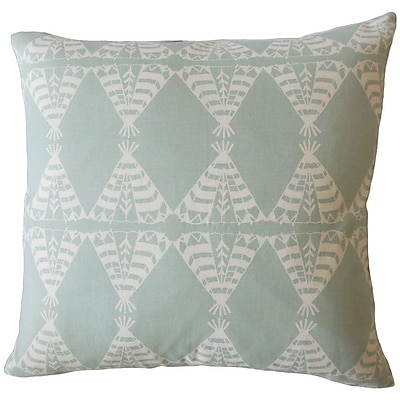 Bloomsbury Market Vail Graphic Down Filled 100pct Cotton Lumbar Pillow; Dew