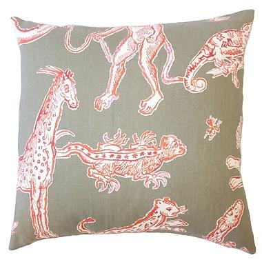 Bloomsbury Market Vandalia Graphic Down Filled 100pct Cotton Lumbar Pillow; Watermelon