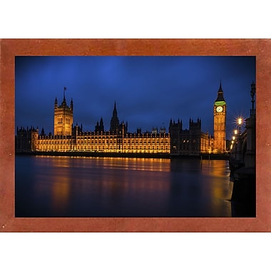 Ebern Designs 'The Classic' Photographic Print; Canadian Walnut Wood Medium Framed Paper