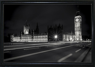 Ebern Designs 'Letters from London 2' Photographic Print; Black Metal Flat Framed Paper