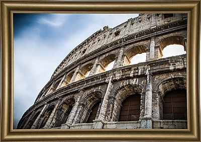 Ebern Designs 'Colosseo' Photographic Print; Bistro Gold Framed Paper