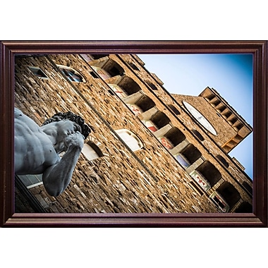 Ebern Designs 'Geometries' Photographic Print; Cherry Wood Grande Framed Paper