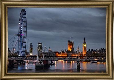 Ebern Designs 'From Waterloo Bridge' Photographic Print; Bistro Gold Framed Paper