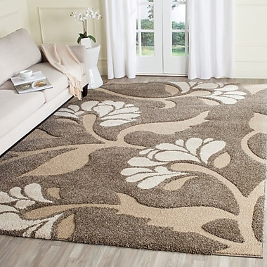 Willa Arlo Interiors Bob Smoke/Beige Area Rug; 3'3'' x 5'3''