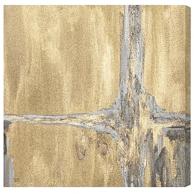 Willa Arlo Interiors 'Golden Falls' Painting Print on Canvas; 50'' H x 50'' W x 1.5'' D