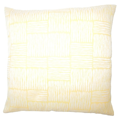 Bloomsbury Market Usher Geometric Down Filled Lumbar Pillow; Orange