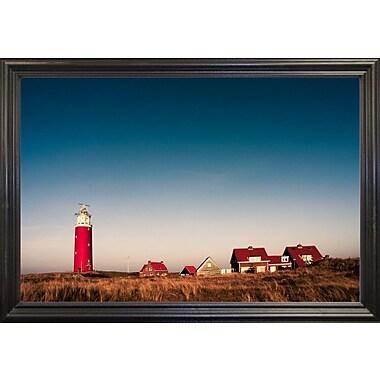 Breakwater Bay 'Texel Lighthouse' Photographic Print; Black Wood Grande Framed Paper